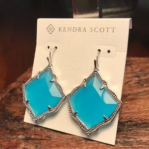 Kendra Scott Kirsten Earrings in Aqua Chalcedony!